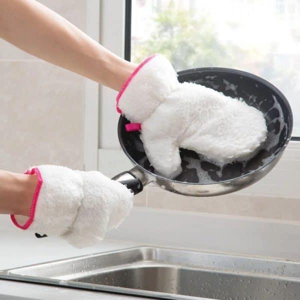 Gants pour faire la Vaisselle poêle
