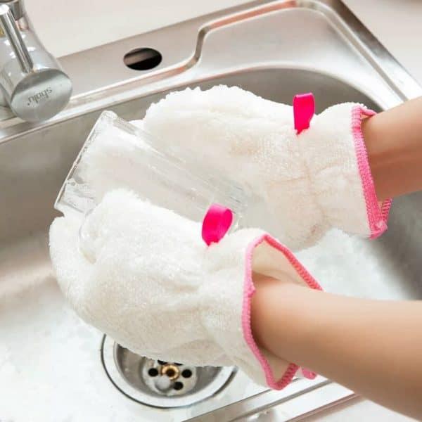 Gants pour faire la Vaisselle verre