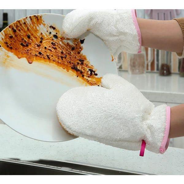 Gants pour faire la Vaisselle assiette sale