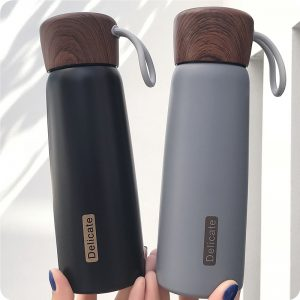 Thermos Gourde Noir Gris Style 2