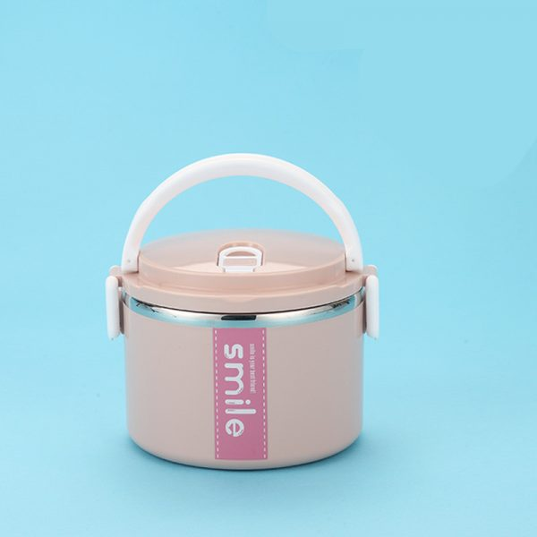Lunch Box Inox Étanche Multi-étage Rose 1 étage