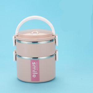 Lunch Box Inox Étanche Multi-étage Rose 2 étages