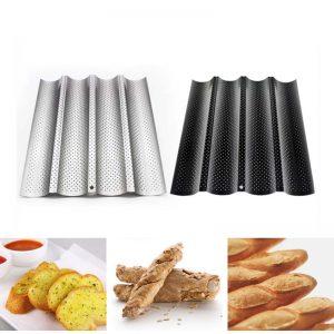 Plaque de cuisson pour baguettes Noir Argent