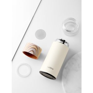 Thermos Thé Inox Infuseur Blanc