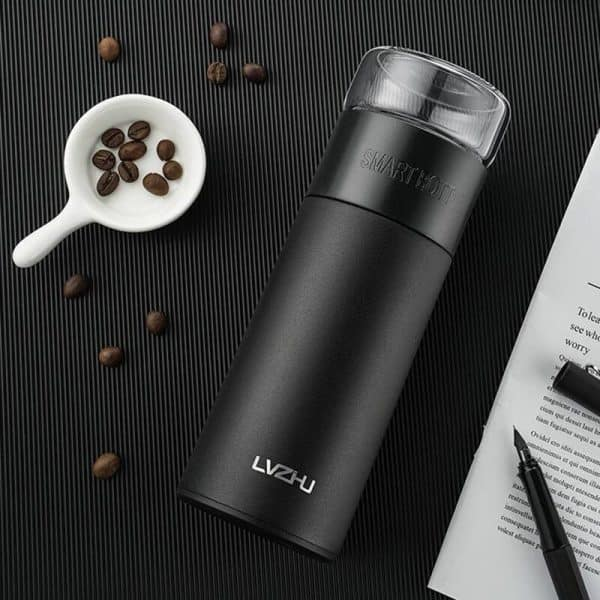 Thermos Thé Inox Infuseur Noir