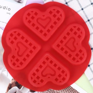 Moule à Gaufre en Silicone Cœur