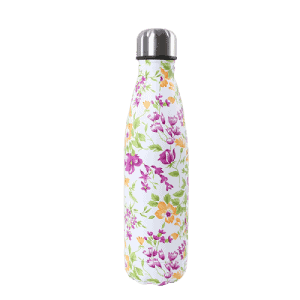 Thermos Café à Fleurs Rose Orange