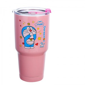 Thermos Thé Chat Cartoon Rose A