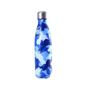 Thermos Thé Style camouflage bleu