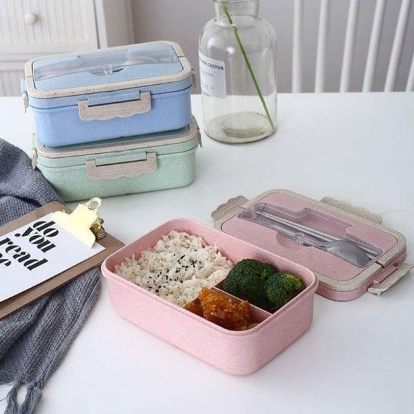Boîte Repas Compartimentée Plastique Bleue
