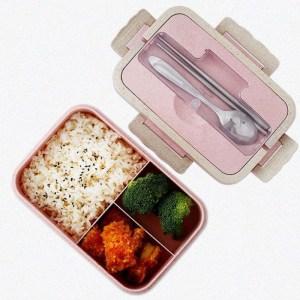 Boîte Repas Compartimentée Plastique Rose