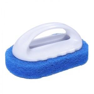 éponge vaisselle avec manche bleue