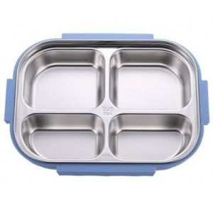 Lunch Box japonaise Isotherme Inox Compartimentée Bleue