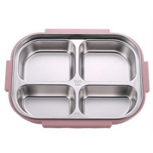 Lunch Box Japonaise Isotherme Inox Compartimentée Rose