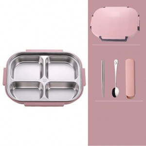 Lunch Box Bento Isotherme Inox Compartimentée Rose