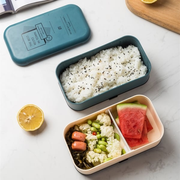 Lunch Box Bento Plastique Isotherme Multi-étage Blanche