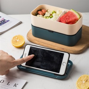 Lunch Box Bento Plastique Isotherme Multi-étage Noire