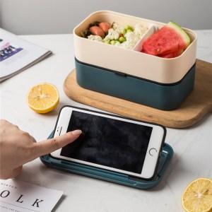 Lunch Box Bento Plastique Isotherme Multi-étage Orange