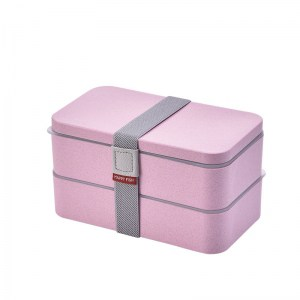 Lunch Box Bento Rose 2 étages Compatible Micro-ondes