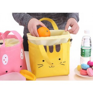 Sac Lunch Box Enfant Inox Compartimentée Violette rose Motifs cartoon