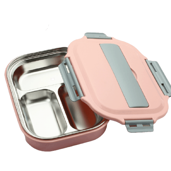 Lunch Box Isotherme Inox Compartimentée Rose