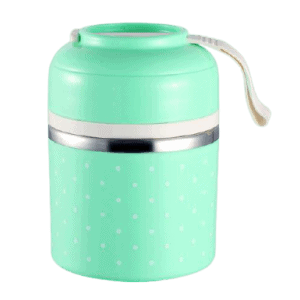 Lunch Box Isotherme Inox Ronde Multi-étage Verte 1 étage