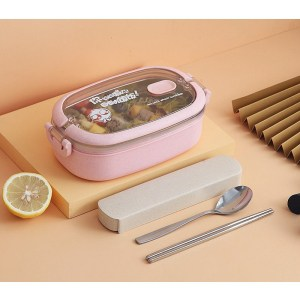 Lunch Box Isotherme Inox Rose couvercle transparent