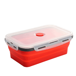 Lunch Box Pliable en Silicone 800ml Rouge