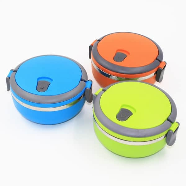 Lunch Box Ronde Isotherme Inox avec Poignée