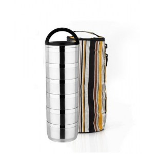 Lunch Box Waterproof Isotherme Inox 6 étages avec Sac