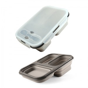Lunch Box Silicone Grise Compatible Micro-ondes