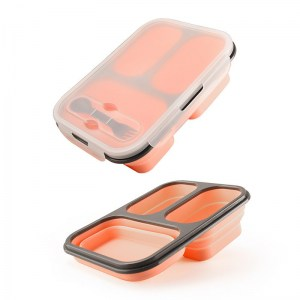Lunch Box Silicone Rose Compatible Micro-ondes
