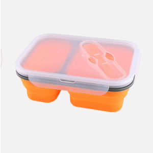 Lunchbox Double-compartiment en Silicone Orange 1