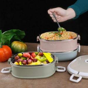 Lunchbox Inox 3 étages Compatible Micro-ondes intérieur